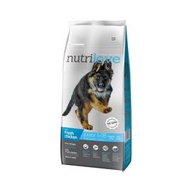 Sausas ėdalas šunims Nutrilove Junior Large, su vištiena, 12 kg
