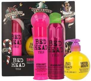 Tigi Bed Head Headrush Shine Spray 200ml + Motor Mouth Mega Volumizer 240ml + After Party Smoothing Cream 100ml