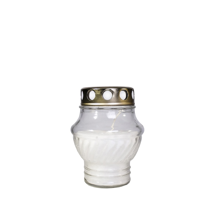 Grave Candle White 38h 12cm