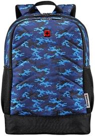 Рюкзак Wenger Quadma Laptop Backpack Blue Camo, синий, 16″