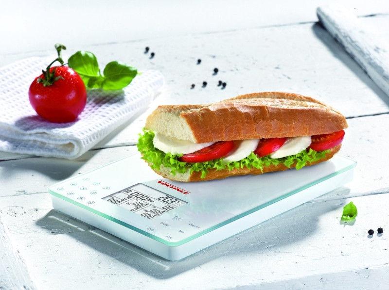 Elektroninės virtuvinės svarstyklės Soehnle Food Control Easy 66130, 5 kg