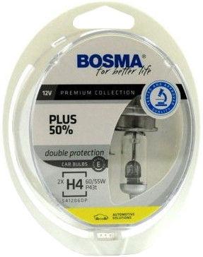 Автомобильная лампочка Bosma H4 12V 60/55W Plus 50% Light Bulb 2pcs