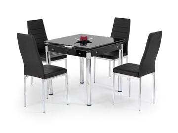 Pusdienu galds Halmar Kent Black/Chrome, 1300x800x760 mm