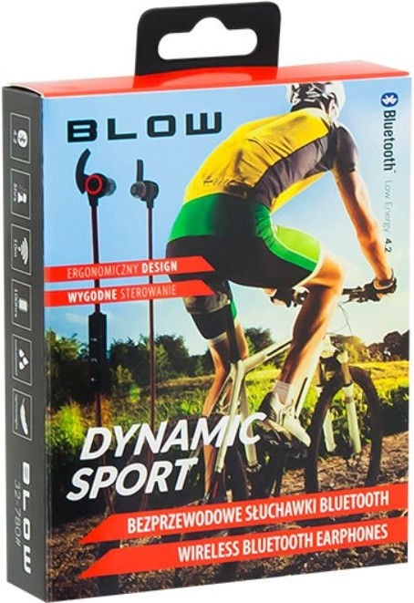 Ausinės Blow 32-780 Dynamic Sport Black/Red, belaidės