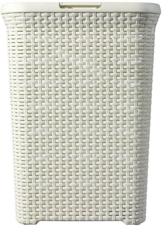 Curver Rattan Laundry Basket 60l Cream