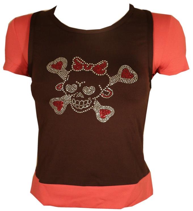 Bars Womens T-Shirt Brown/Pink 101 S