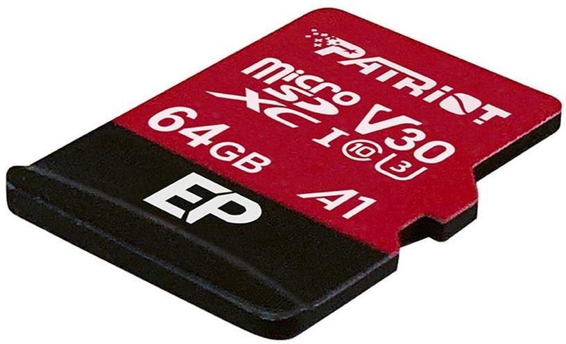 Mälukaart Patriot 64GB EP Series Micro SDXC V30