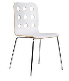 Ēdamistabas krēsls Black Red White Cantona White, 1 gab.
