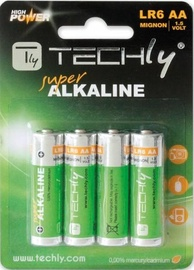 Techly Alkaline Batteries 4x AA