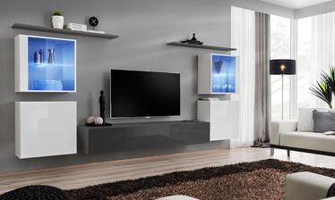 Dzīvojamās istabas mēbeļu komplekts ASM Switch XIV Graphite/White