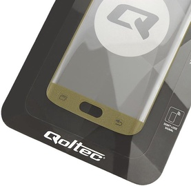 Qoltec Premium Tempered Glass Screen Protector Full Face For Samsung Galaxy S7 Edge Gold