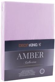 Простыня DecoKing Amber, фиолетовый, 90x200 см, на резинке