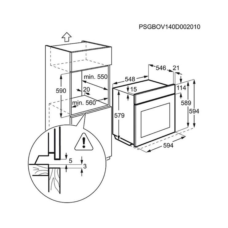 Integreeritav ahi Electrolux EOA45555OX
