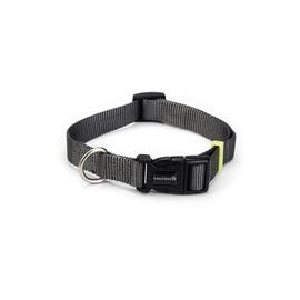 Beeztees Nylon Collar Uni Dark Grey 20-30x1cm