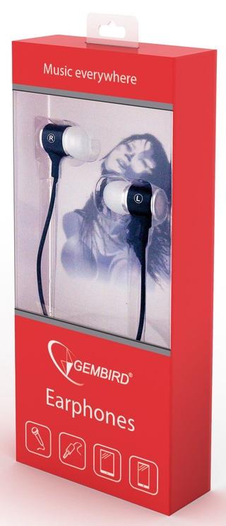 Ausinės Gembird MHS-EP-001 In-Ear Black/White