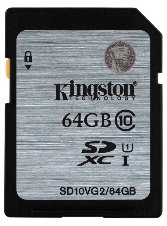Kingston 64GB SDXC UHS-I Flash Card Class 10