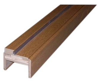 Durų stakta, reguliuojamoji, tamsaus ąžuolo, 100–133 x 980 x 2060 mm