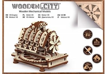3D mīkla Wooden City Model V8 Engine, 200 gab.