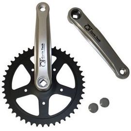 Cycletech Crankset 1z 44T 170mm Black/Silver