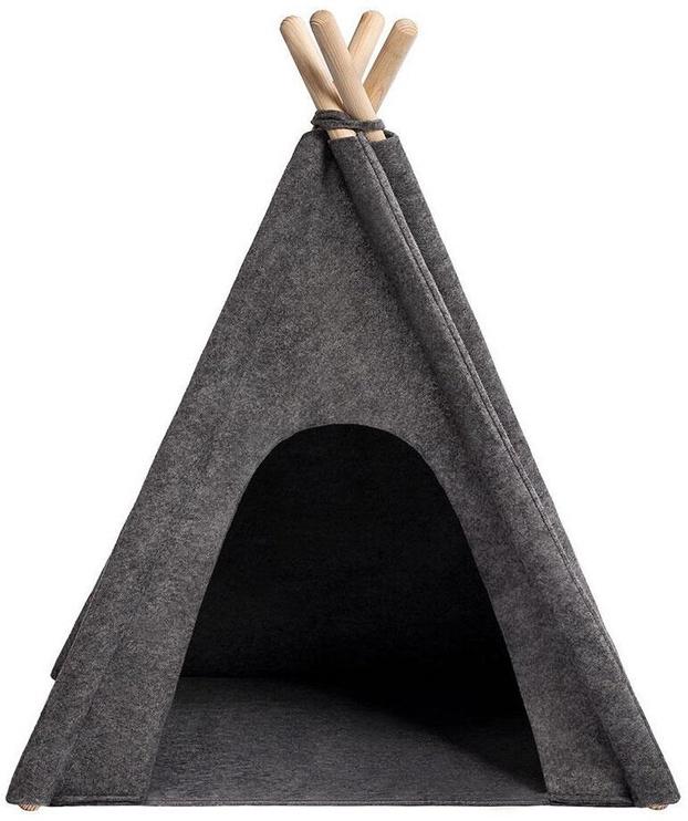 Кровать для животных Myanimaly Tipi S, черный/серый, 600x600 мм