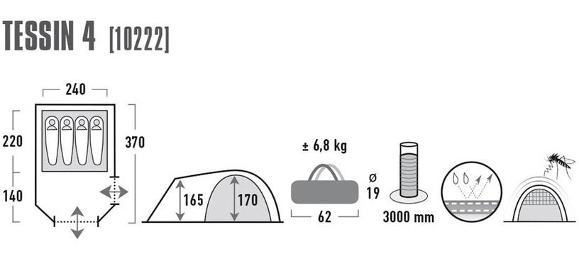 Palapinė High Peak Tessin 4 10222