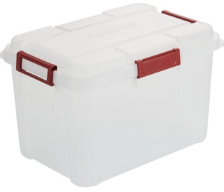 Curver Outback Box With Lid 80l Transparent Red