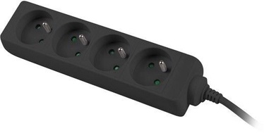 Lanberg Power Strip 1.5m Black PS0-04E-0150-BK