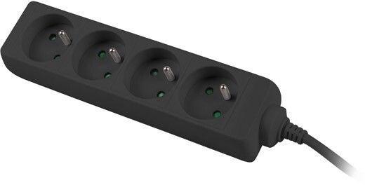 Lanberg Power Strip 1.5m Black PS0-04E-0150-BK