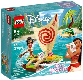 Konstruktors LEGO®Disney Princess 43170 Vaianas piedzīvojums okeānā