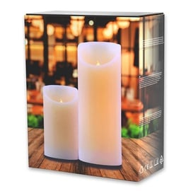 DecoKing Wax LED Candle Set 12.5/20cm 2pcs
