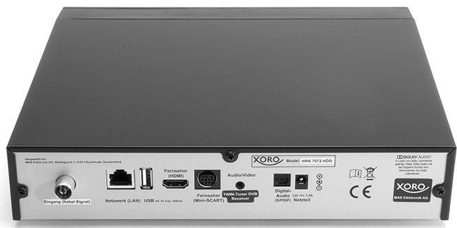 Xoro HRK 7672 HDD Receiver Black