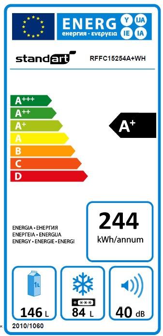 Šaldytuvas Standart RFFC15254A+WH