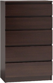 Top E Shop Chest of 5 Drawers Brown