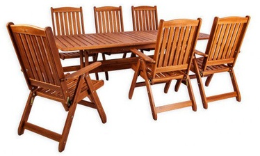 Комплект уличной мебели Folkland Timber Bavaria 6, коричневый, 6 места