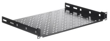 Riiul Netrack Equipment Shelf 19'' 1U /300mm Black