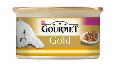 Konservuotas ėdalas katėms Gourmet Gold, su kalakutiena ir antiena, 85 gr