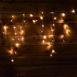 Girlianda Varvekliai, 200 LED, šilta balta, 9.9 m