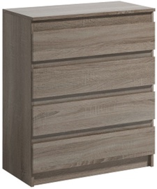 WIPMEB Armadio A1 4S Chest Of Drawers Oak Truffle