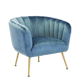 Fotelis Home4you Tucker Blue, 78x71x69 cm