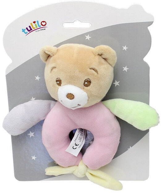 Axiom New Baby Rattle Teddy Bear 15cm