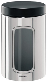 Brabantia Window Canister 1.4l Brilliant Steel