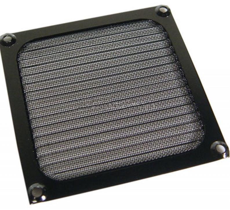 Ohne Hersteller Aluminum Fan Filter 92mm Black