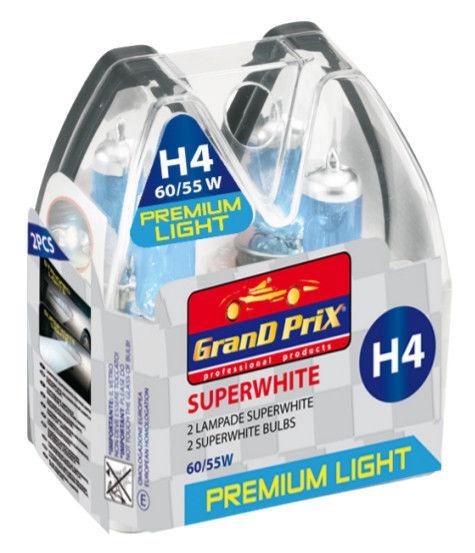 Автомобильная лампочка Bottari Grand Prix Superwhite Halogen H4 12V 60/55W 2pcs 33800