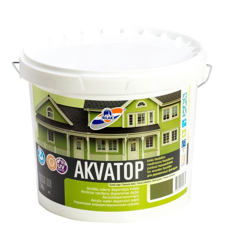 Rilak Akvatop Outdoor Emulsion Paint Dark Green 3.6l