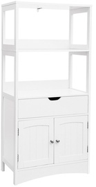 Songmics Floor Cabinet White 60x32.5x122cm