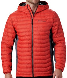 Columbia Powder Pass Hooded Mens Jacket 1773271845 Red/Grey M