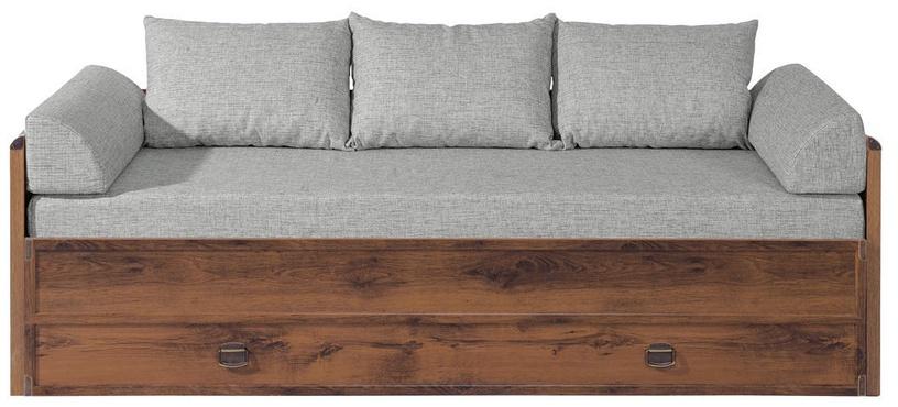 Black Red White Indiana Bed 80/160 Sutter Oak/Grey