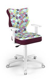 Детский стул Entelo Duo ST32, белый/фиолетовый, 400x370x1000 мм