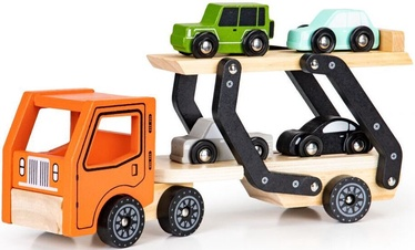 EcoToys Lora Wooden Tow Truck 4 Cars