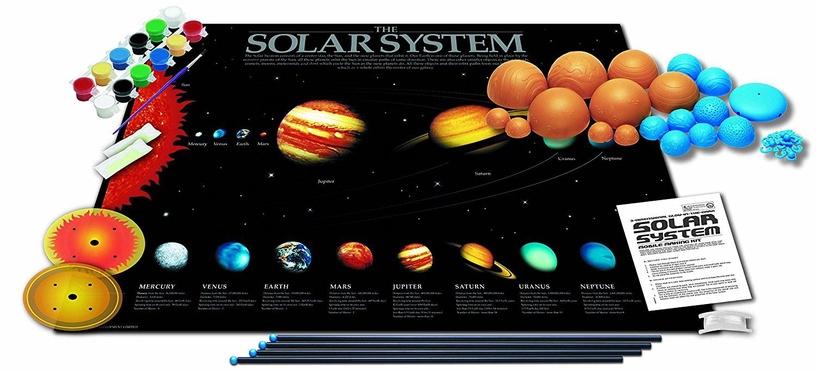 4M 3D Glow In The Dark Solar System Model Making Kit 5520